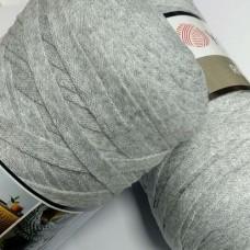 Трикотажная пряжа первичка Ribbon 757 (серый)