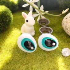 Глаза для игрушек на безопасном креплении овал 15×18 (голубой)