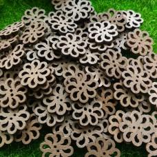Пуговицы деревянные Цветок, 20 мм