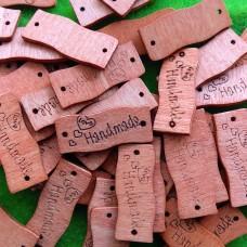 """Бирка деревянная """"Handmade"""" 30×10 мм"""