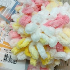 Puffy Fine Color 5942 (бело-розово-желтый)
