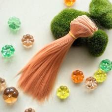 Трессы для игрушек (розовый блонд прямой), 15 см