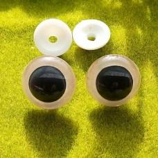 Глаза, 25 мм (бело-черный)
