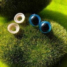 Глаза, 12 мм (кошачий, синий)
