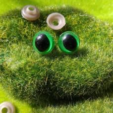 Глаза, 12 мм (кошачий, зелёный)