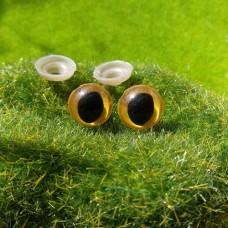 Глаза, 12 мм (кошачий, желтый)