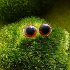 Глаза, 10 мм (блеск, оранжевый)