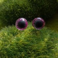Глаза, 10 мм (блеск, фуксия)