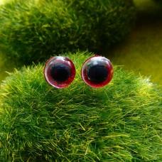 Глаза, 10 мм (блеск, красный)