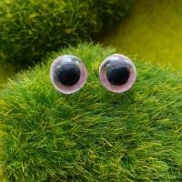 Глаза, 10 мм (блеск, розовый)