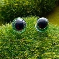 Глаза, 10 мм (блеск, зелёный)