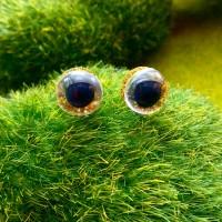 Глаза, 10 мм (блеск, жёлтый)