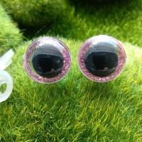 Глаза, 16 мм (блеск, розовый)