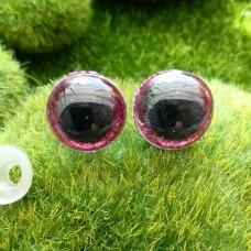 Глаза, 16 мм (блеск, фуксия)