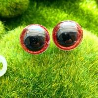 Глаза, 16 мм (блеск, красный)