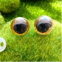 Глаза, 16 мм (блеск, жёлтый)