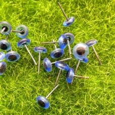 Глаза для валяных игрушек стеклянные 7 мм (синий)