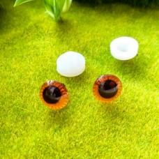 """Глаза """"живые"""", 11 мм (коричневый)"""