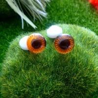 """Глаза """"живые"""", 13 мм (коричневый)"""