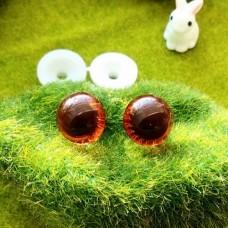 """Глаза """"живые"""", 16 мм (коричневый)"""