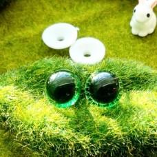 """Глаза """"живые"""", 16 мм (зелёный)"""