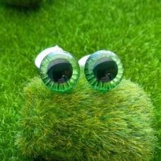 """Глаза """"живые"""", 18 мм (зеленый)"""