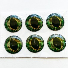 Глаза клеевые полипропилен, 7 мм (зелёный)