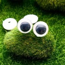 Глаза, 16 мм (бело-черный)