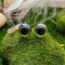 Глаза, 16 мм (блеск, св. зелёный)