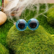 Глаза, 18 мм (блеск, голубой)
