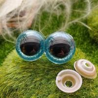 Глаза, 20 мм (блеск, голубой)