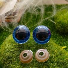 Глаза, 20 мм (блеск, синий)