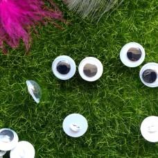 Глаза пришивные бегающие, 10 мм