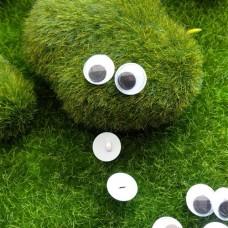 Глаза пришивные бегающие, 12 мм