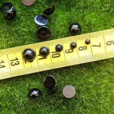 Глаза клеевые полубусины, 4 мм (черный)