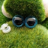 Глаза, 16 мм (блеск, голубой)