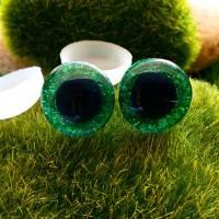 Глаза 3D, 16 мм (блеск, зелёный)