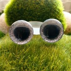 Глаза 3D, 16 мм (блеск, серебро)