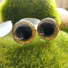 Глаза 3D, 16 мм (блеск, жёлтый)