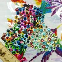 Глаза клеевые стеклянные, 8 мм (цвета микс)