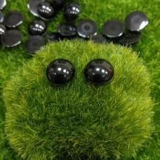 Глаза клеевые полубусины, 12 мм (черный)