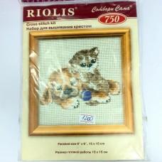 """Набор для вышивания крестом """"Котенок и щенок"""" (Riolis)"""