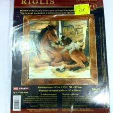 """Набор для вышивания крестом """"Жребёнок и щенок"""" (Riolis)"""