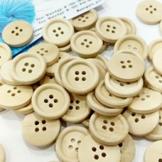 Пуговицы деревянные, 20 мм (4 отверстия)